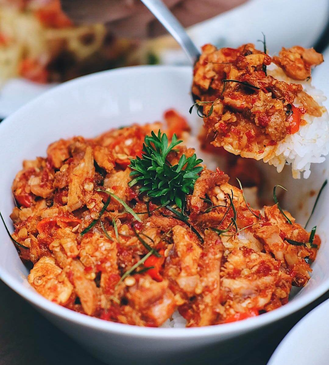 ayam pelalah khas lombok