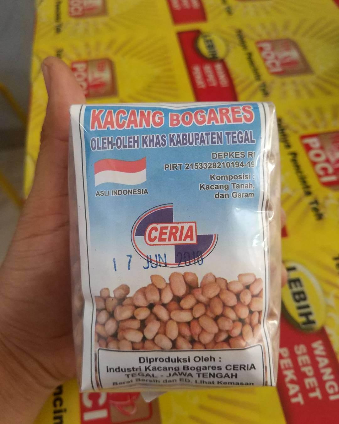 kacang bogares cemilan khas tegal