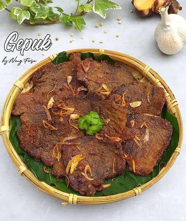 gepuk daging makanan khas subang
